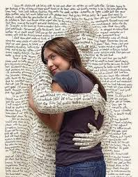 imagestext hugging woman