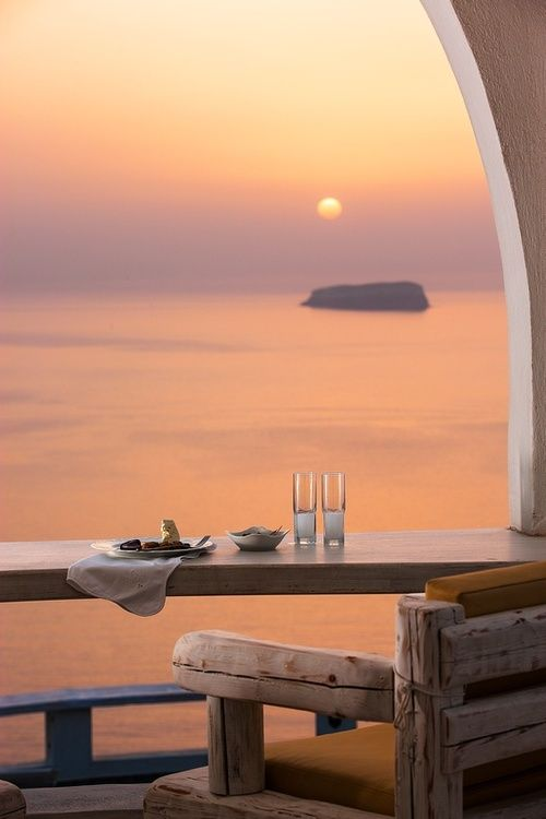 Beautiful view and table for two - give and take